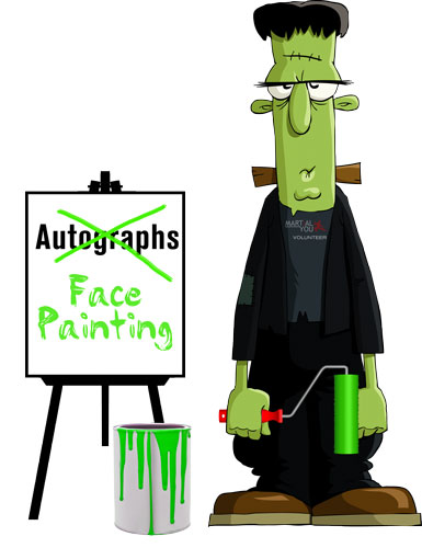 Frankenstien-Unimpressed-Face-Painting